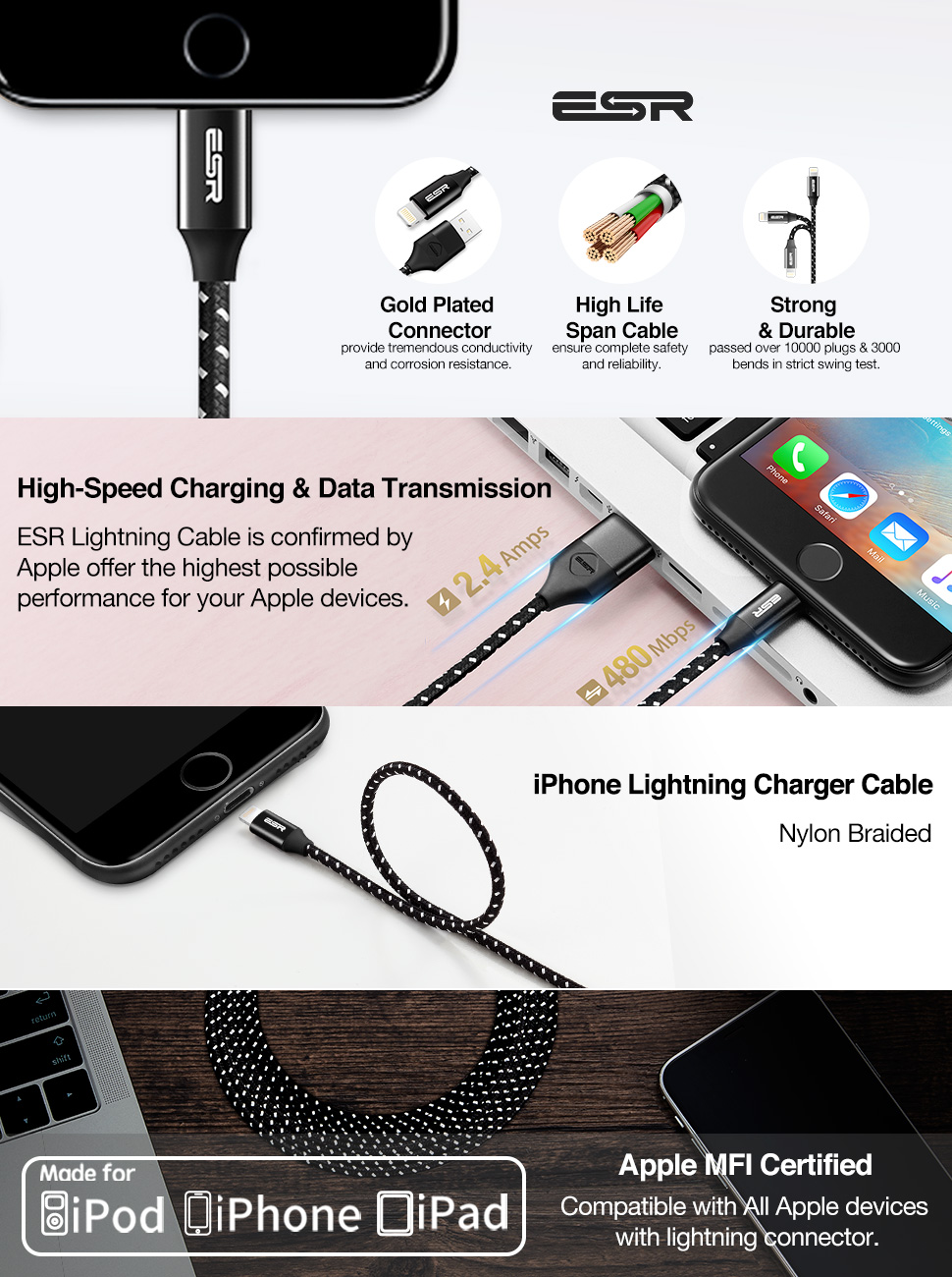ESR MFi Lightning Cable, Gohub Shop