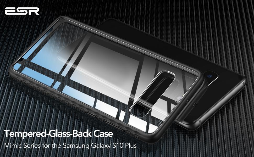 Carcasa ESR Mimic Samsung Galaxy S10 Plus, Black Gohub Shop