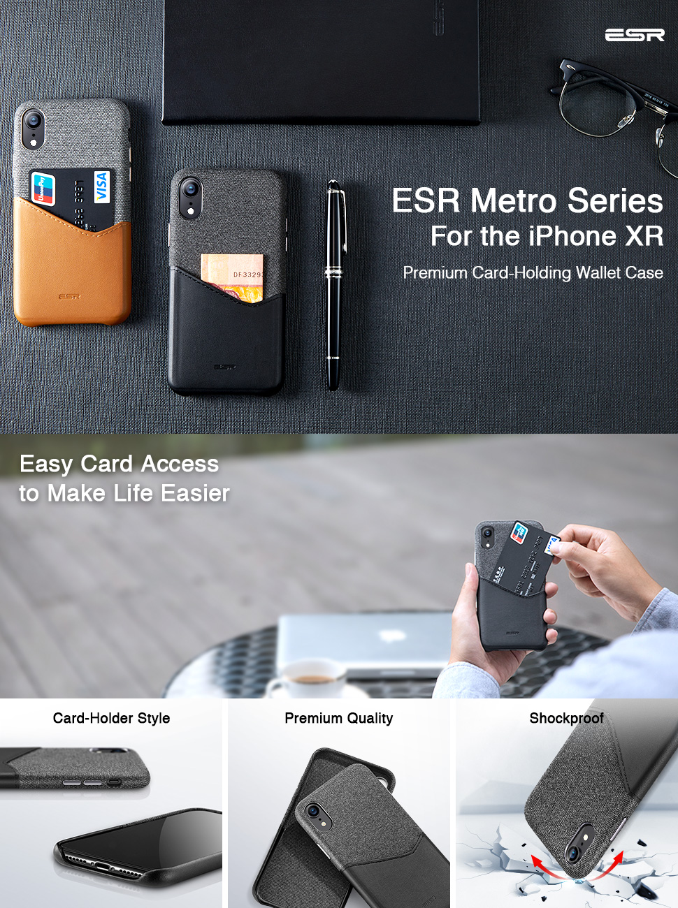 ESR Metro case for iPhone XR, Gohub Shop