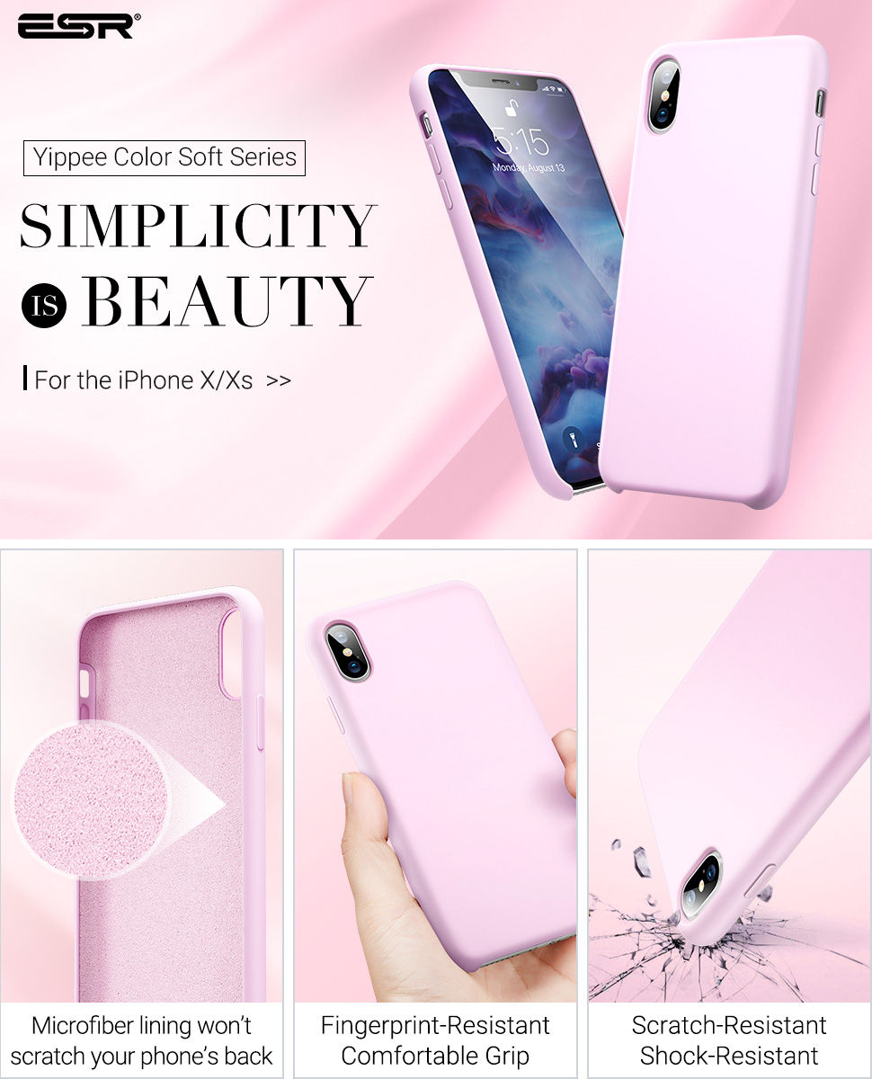 ESR Yippee Color case for iPhone XS / X, Pink Gohub Shop