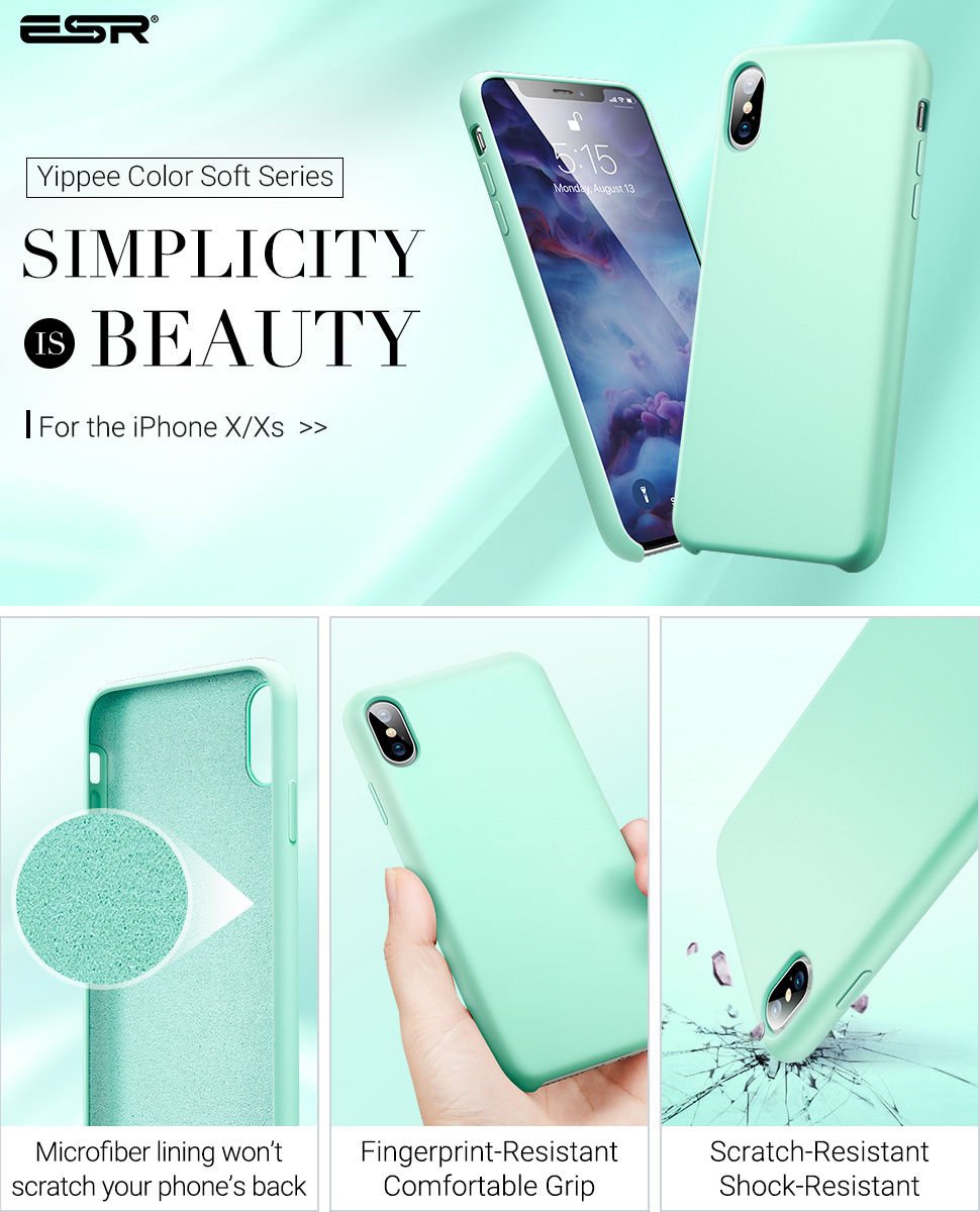ESR Yippee Color case for iPhone XS / X, Mint Gohub Shop