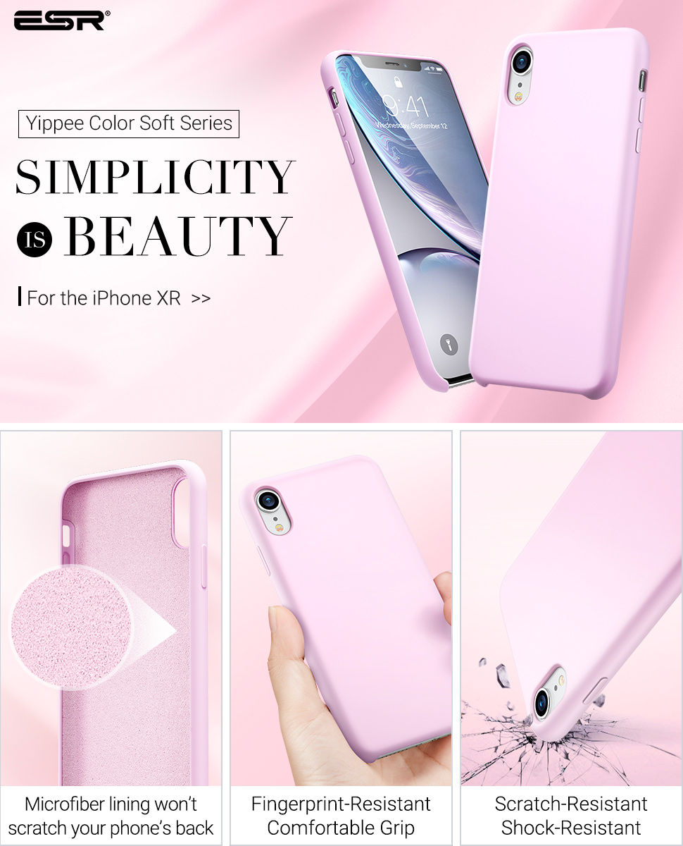 ESR Yippee Color case for iPhone XR, Pink Gohub Shop