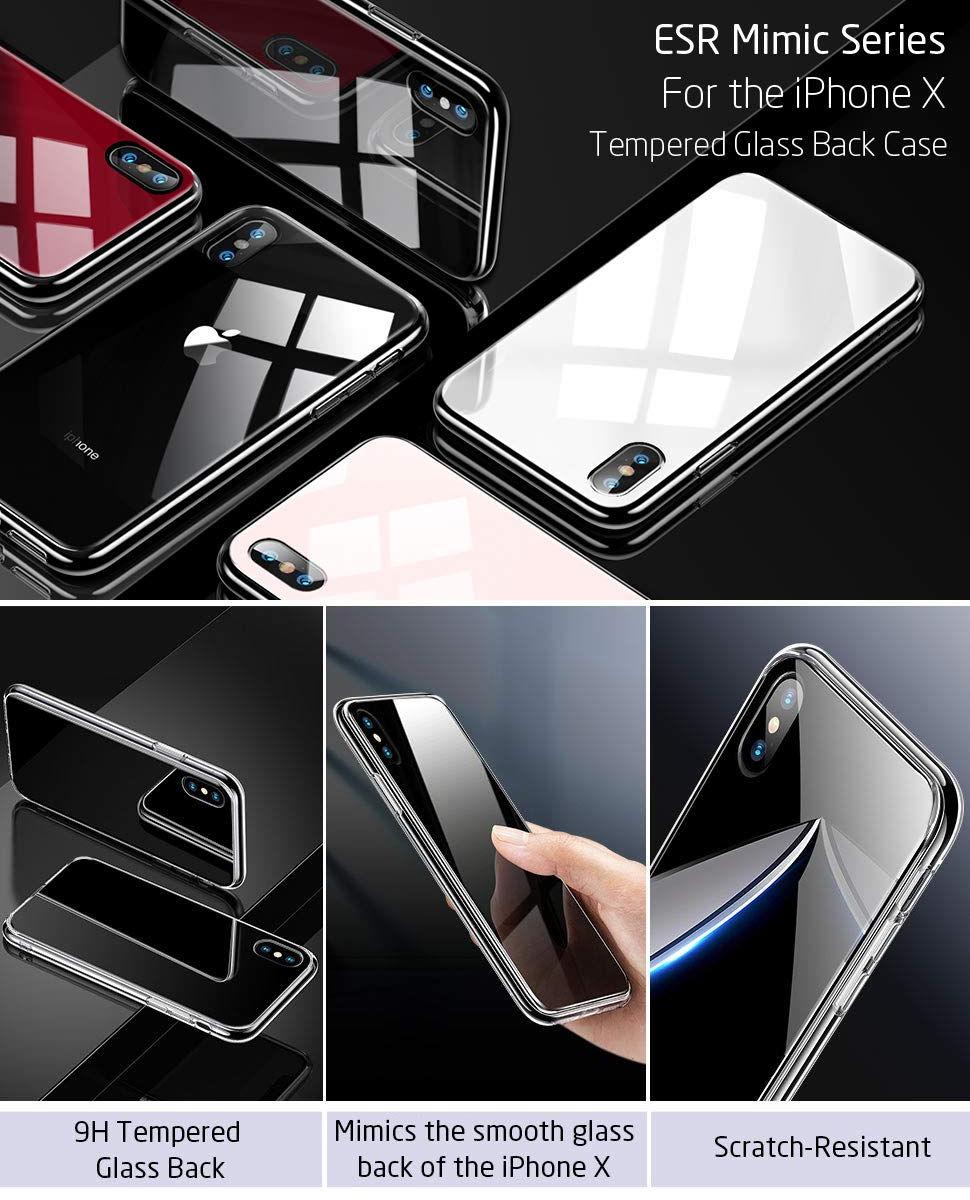 Carcasa ESR Mimic 9H Tempered Glass iPhone X, Black Gohub