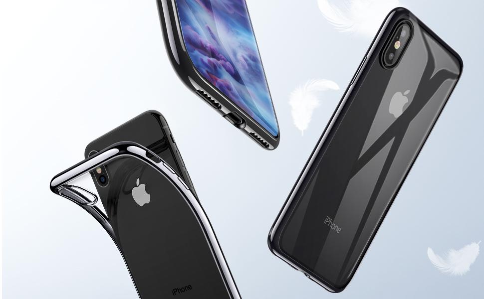 Husa slim ESR Eseential Twinkler iPhone X, Black Gohub
