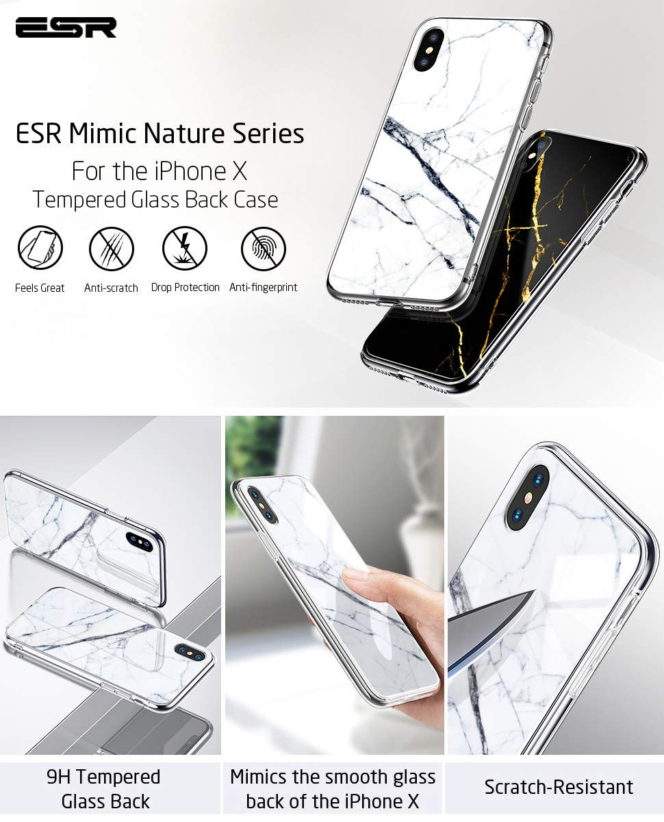 Esr Mimic Case For Iphone X White Sierra Spigen Apple Watch Rugged Armor 38mm Tpu Softcase Original Carcasa 9h Tempered Glass Gohub