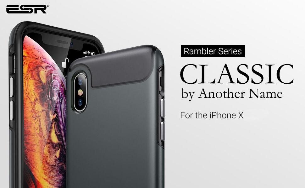 Carcasa ESR Rambler iPhone X, Gohub