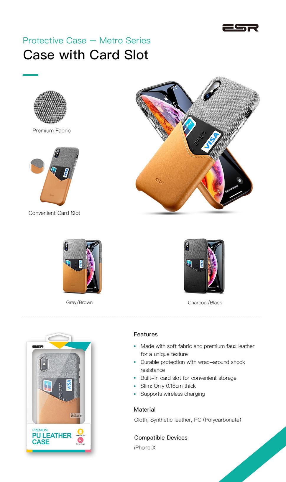 Carcasa ESR Metro iPhone X