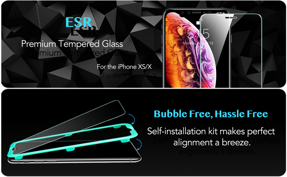 ESR iPhone XS / X Tempered Glass Screen Protector