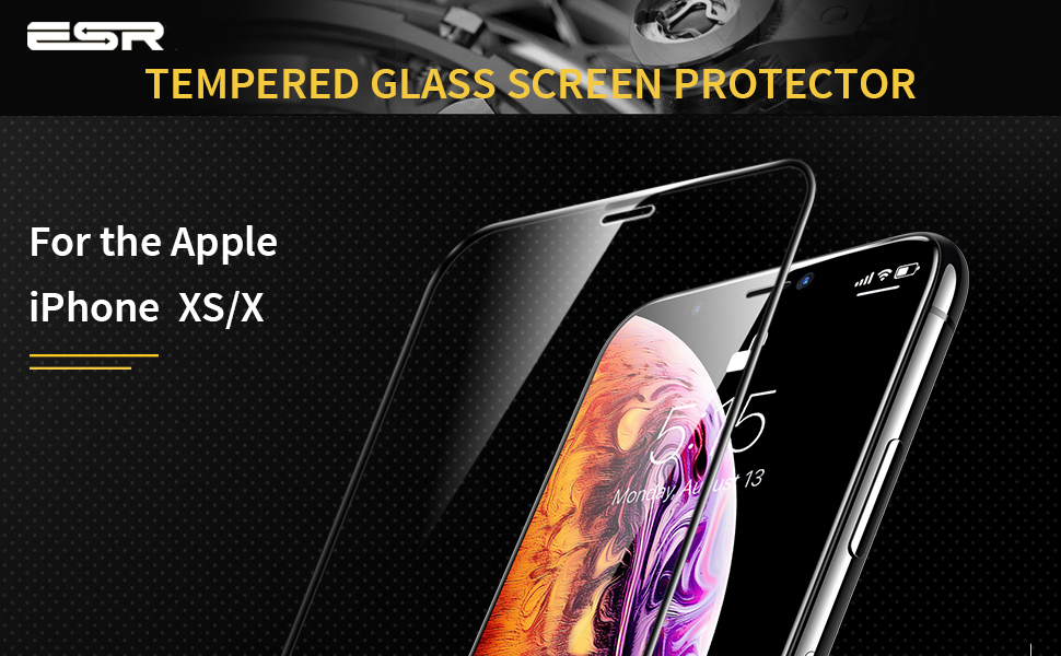 ESR iPhone XS / X Tempered Glass Full Coverage Screen Protector