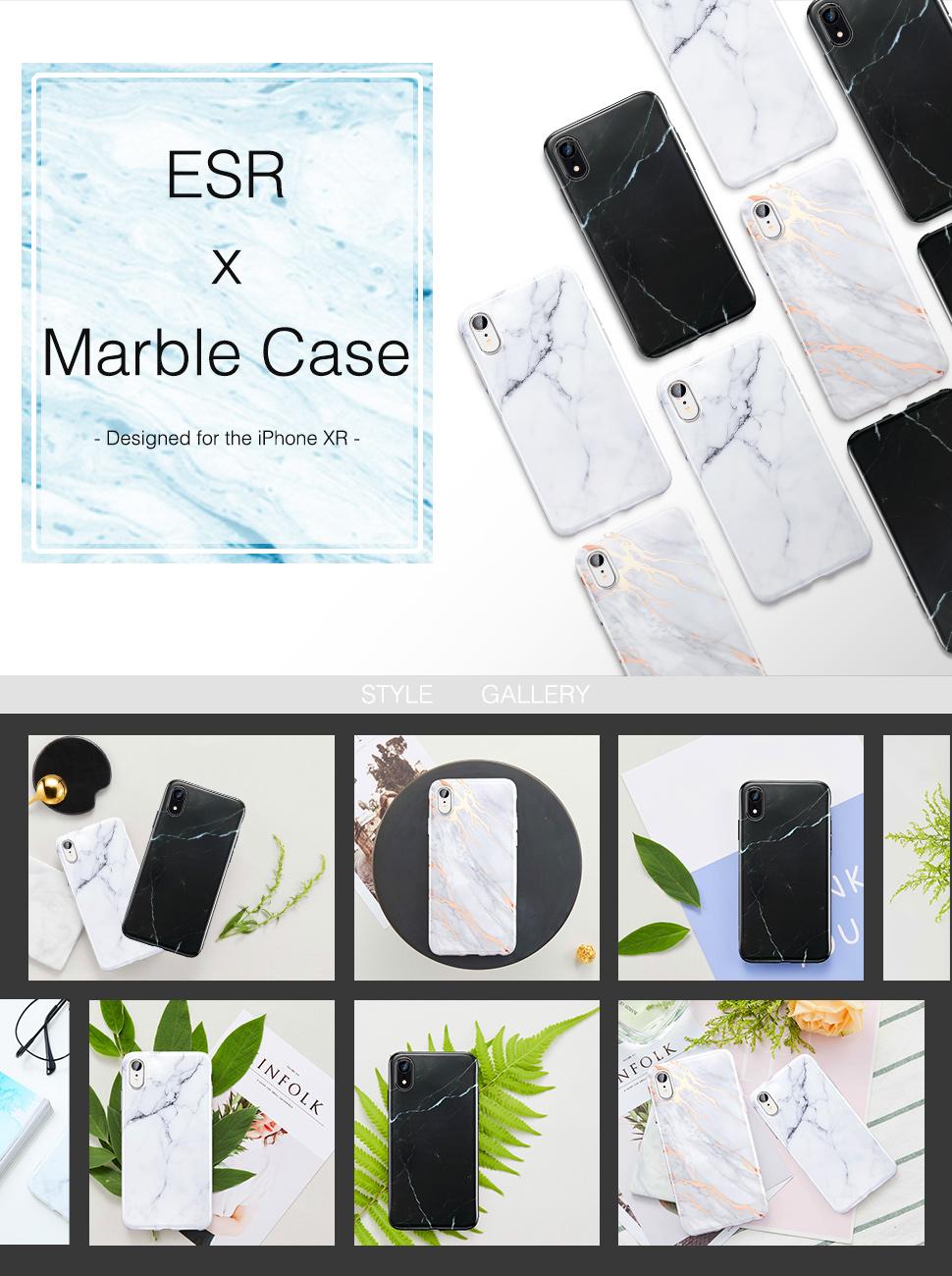 ESR Marble case for iPhone XR, Gohub Shop