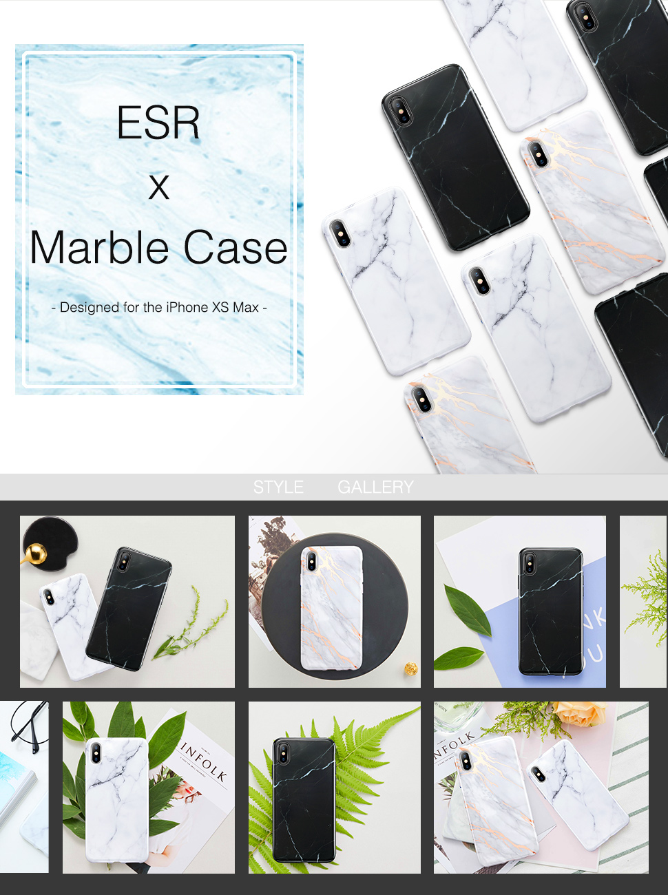 ESR Marble case for iPhone XS Max, Gohub Shop