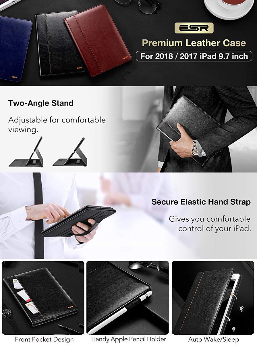 Carcasa ESR Intelligent iPad 9.7 inchi 2017 / 2018, Black Gohub Shop