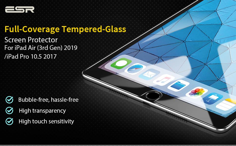 Folie sticla securizata ESR, Tempered Glass iPad Pro 10.5 inchi 2017 Gohub Shop