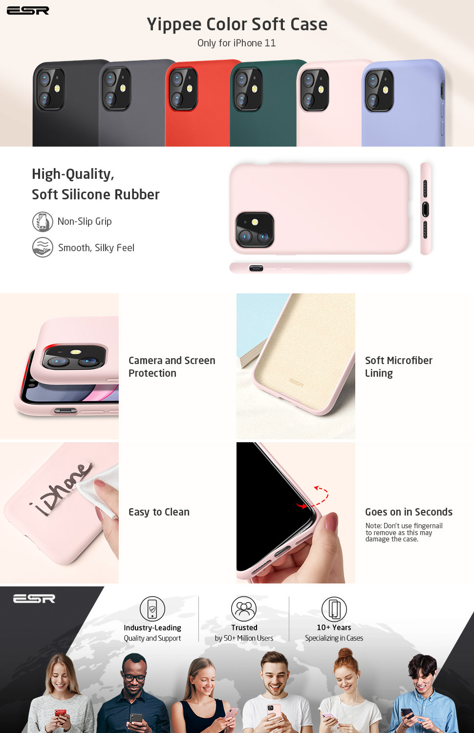 ESR Yippee Color case for iPhone 11, Gohub Shop