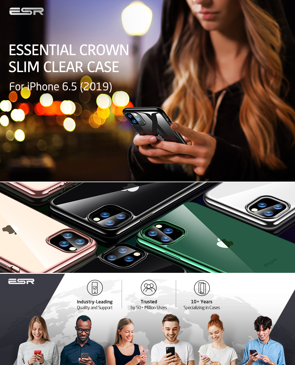 ESR Essential Twinkler slim cover for iPhone 11 Pro Max, Black Gohub Shop