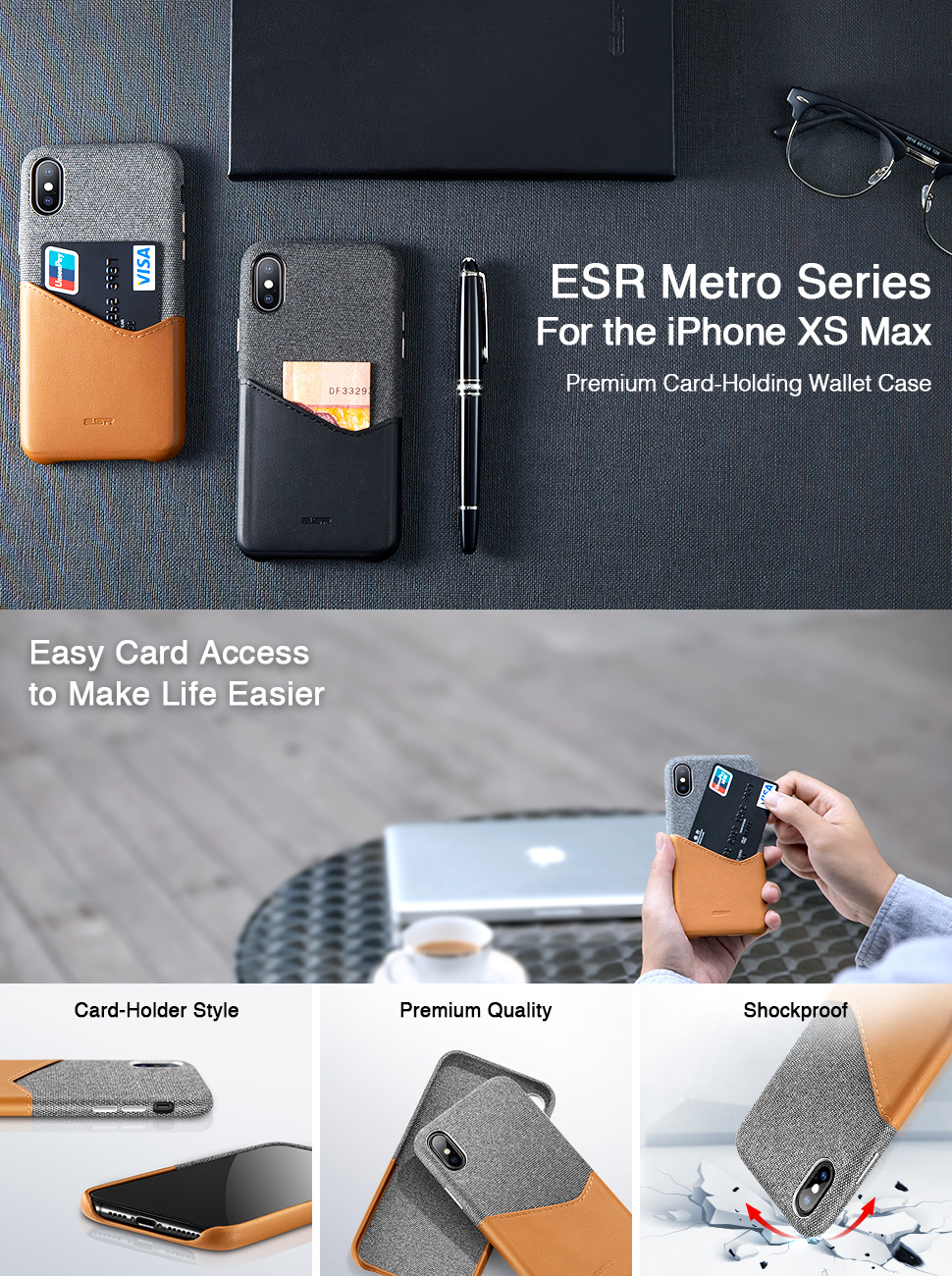ESR Metro case for iPhone XS Max, Gohub Shop