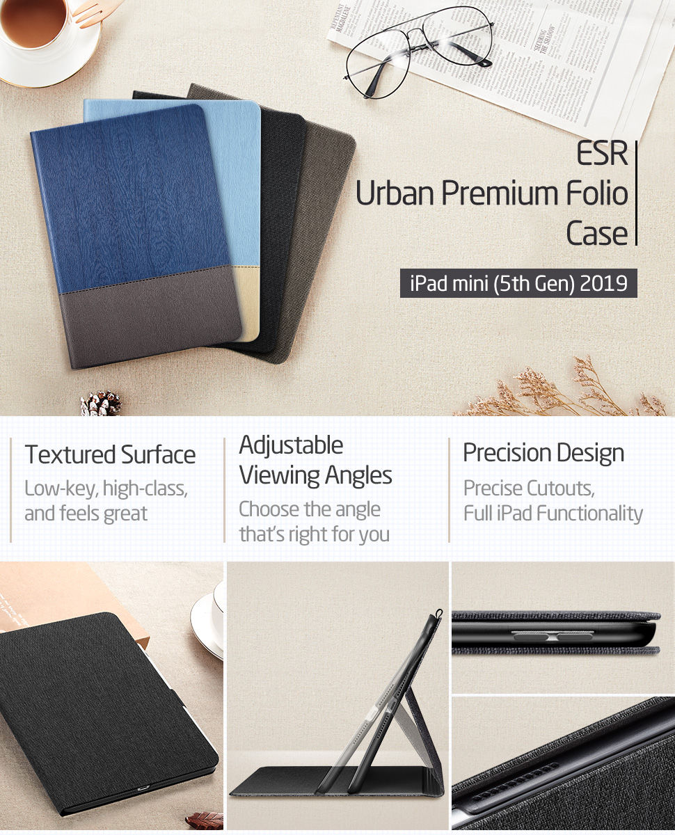 ESR Simplicity for iPad mini 5 2019, Black - Gohub Shop