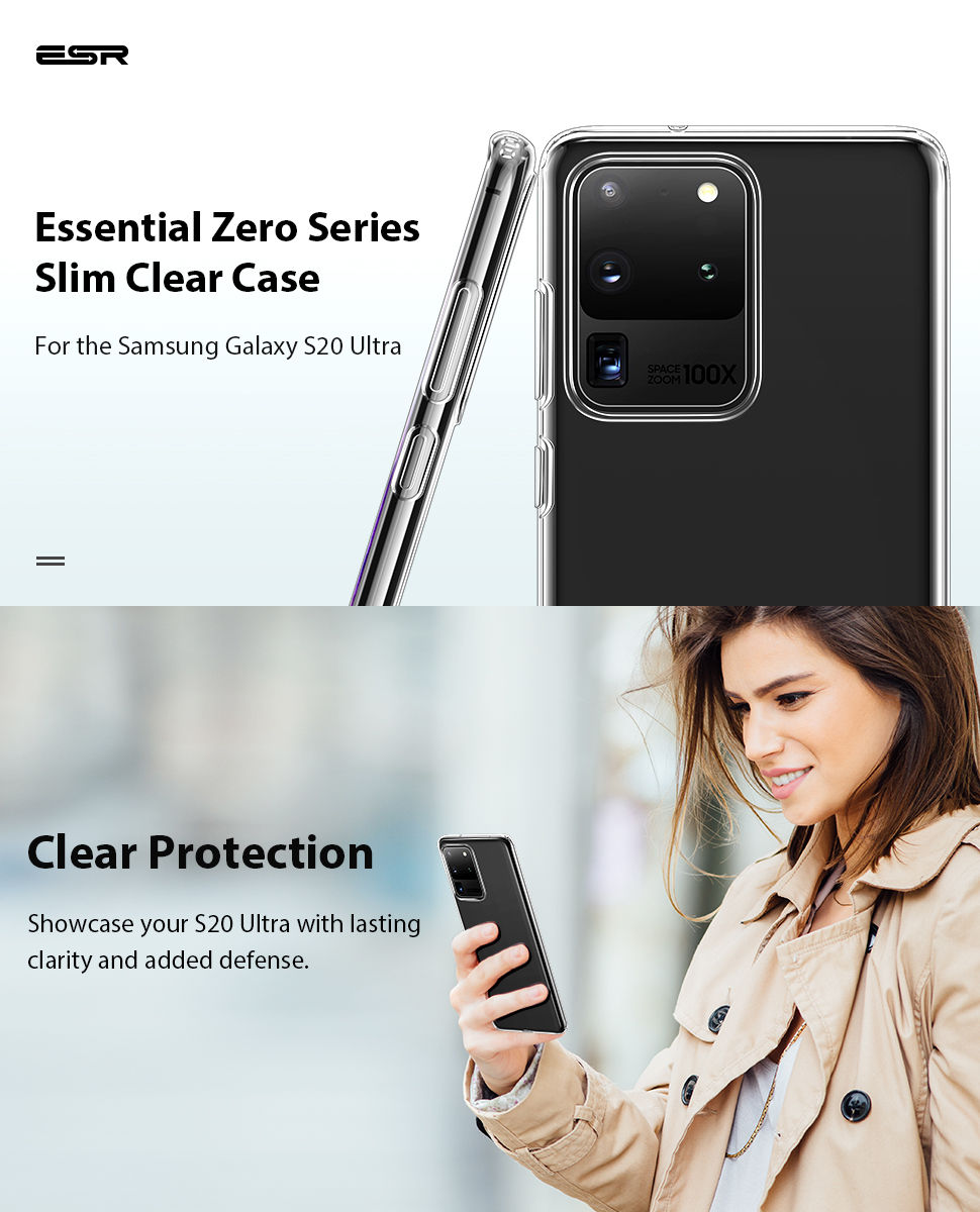 Gohub-Shop-ESR-S20 Ultra-Essential Zero-Clear