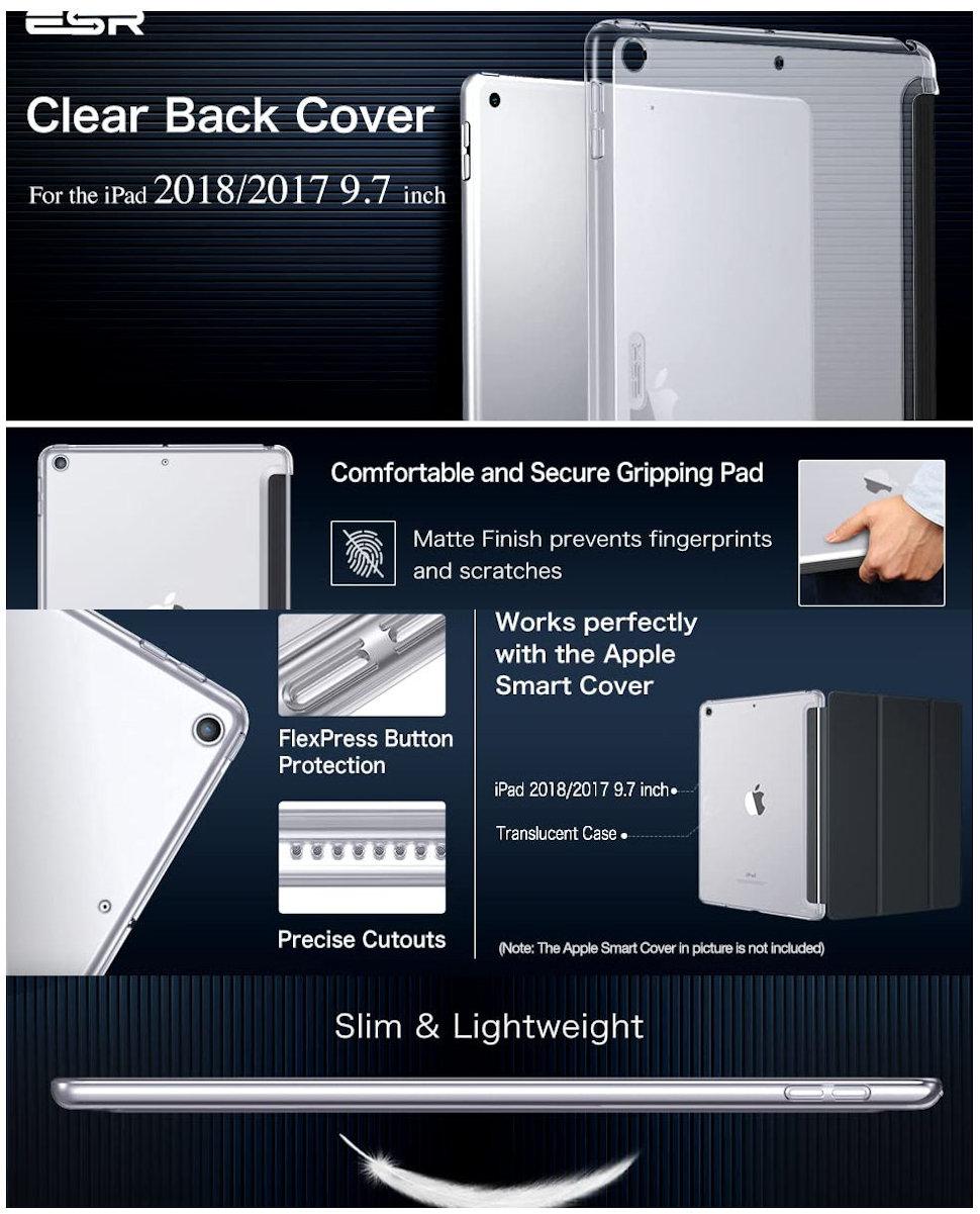 Gohub Shop ESR Yippee Back Case Clear for iPad 9.7 2017/2018