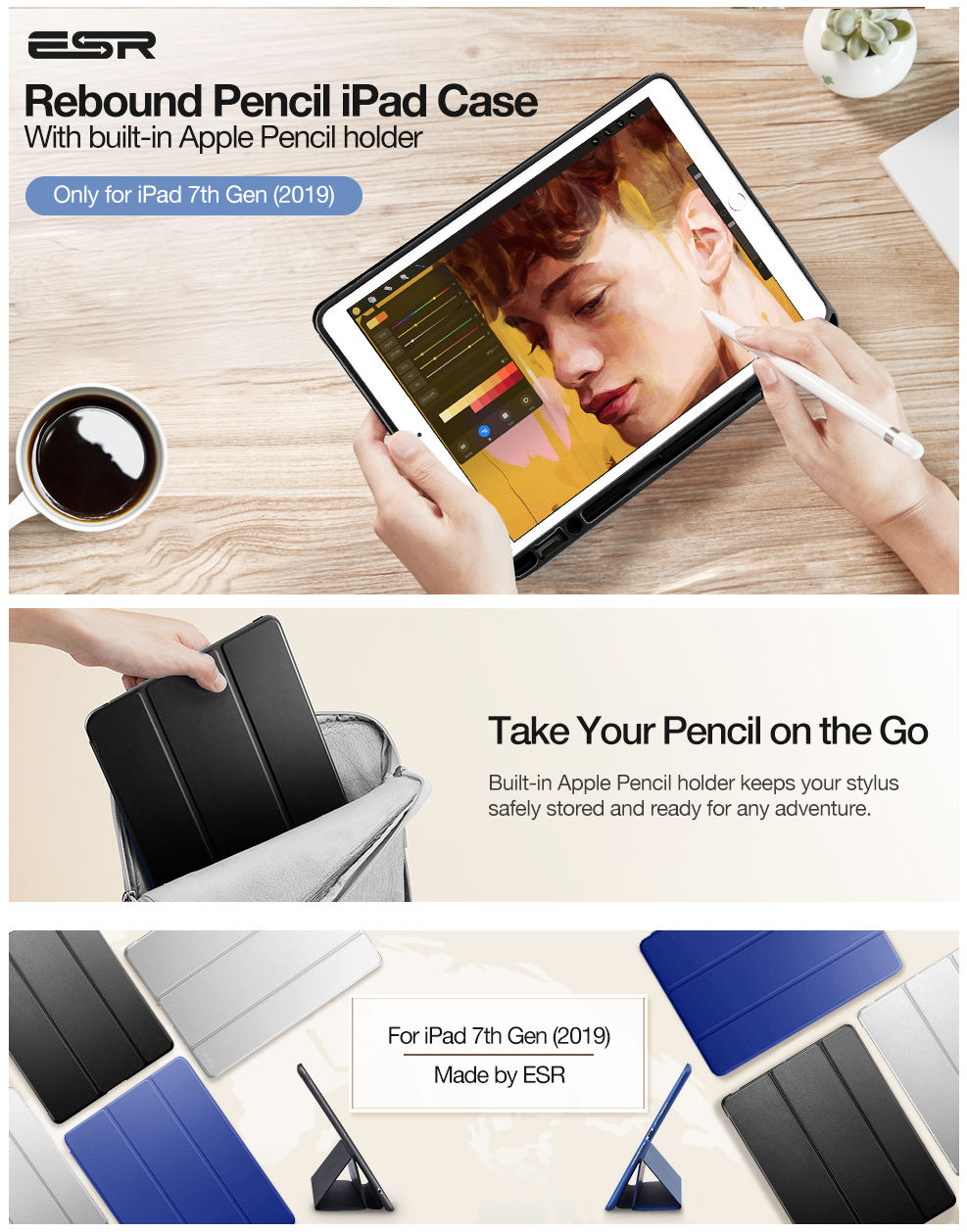 Gohub-Shop-iPad 10.2 2019-Rebound Pencil-Black
