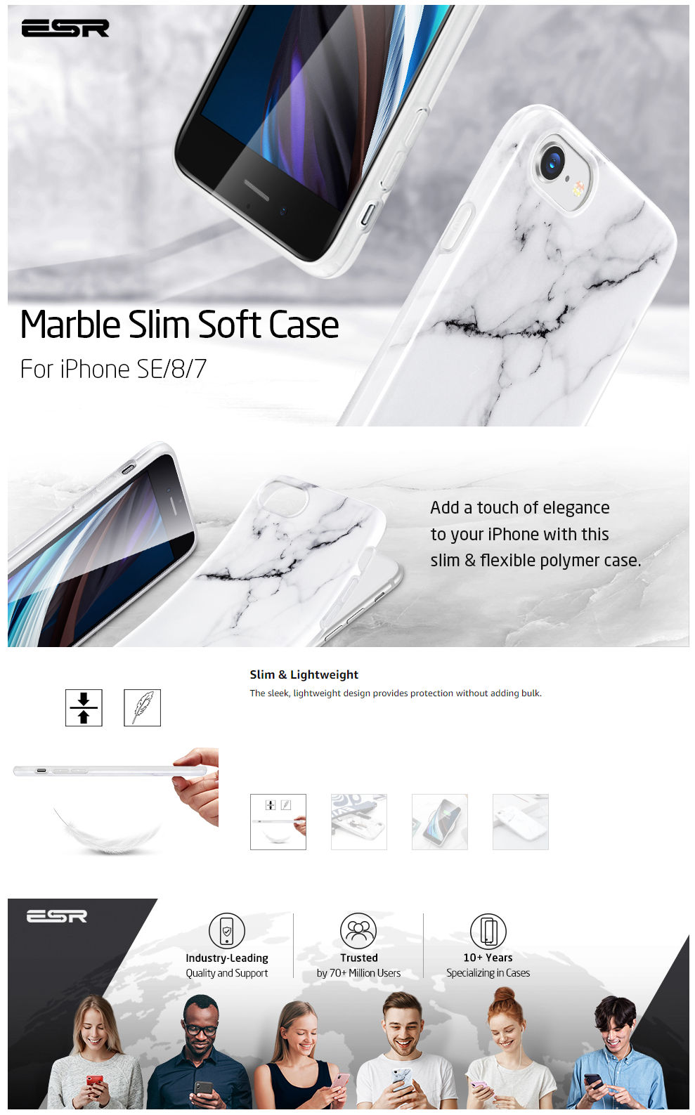 Gohub Shop Marble - White