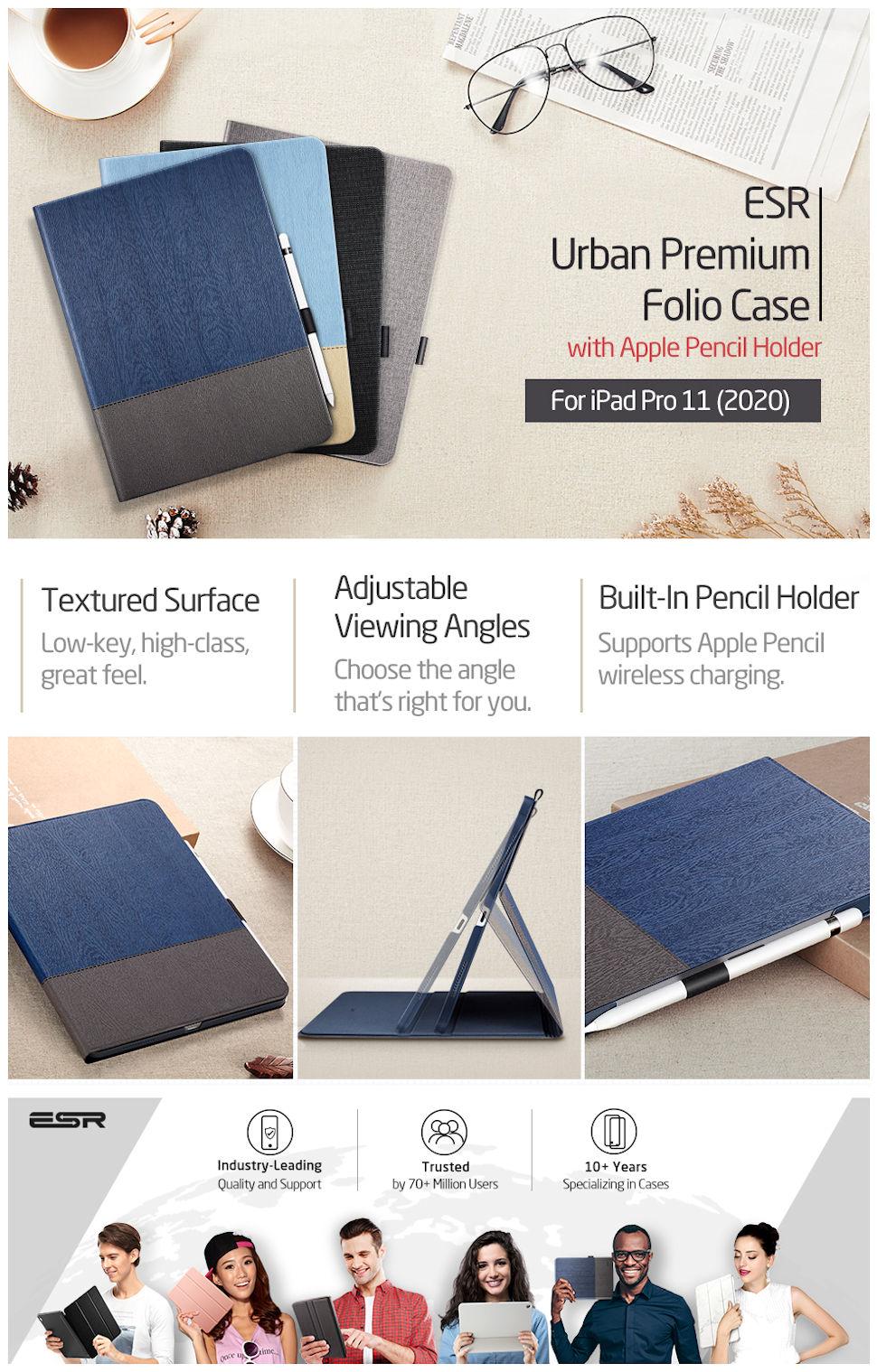 iPad Pro 11 2020-Urban Simplicity Holder-Black
