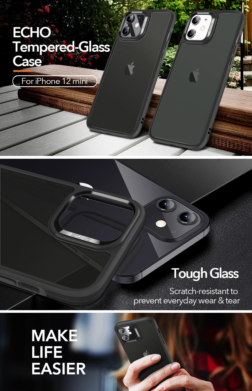Gohub Shop ESR Ice Shield - Black case for iPhone 12 mini