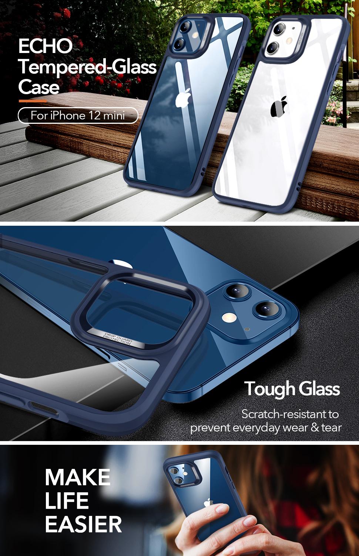Gohub Shop ESR Ice Shield - Blue case for iPhone 12 mini