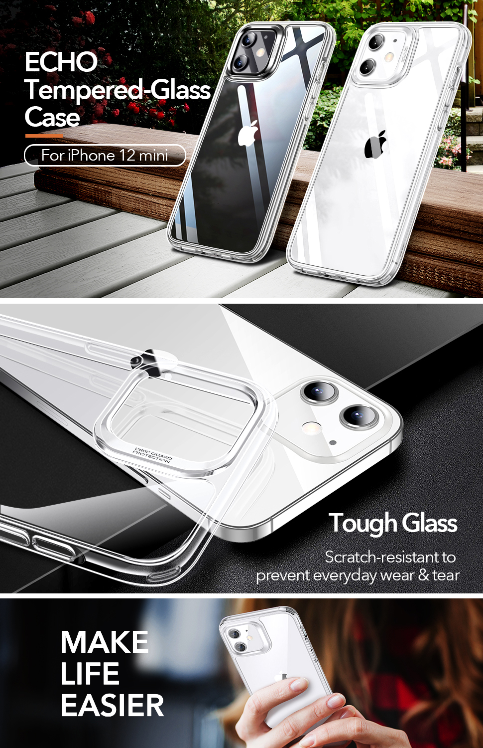 Gohub Shop ESR Ice Shield - Clear case for iPhone 12 mini