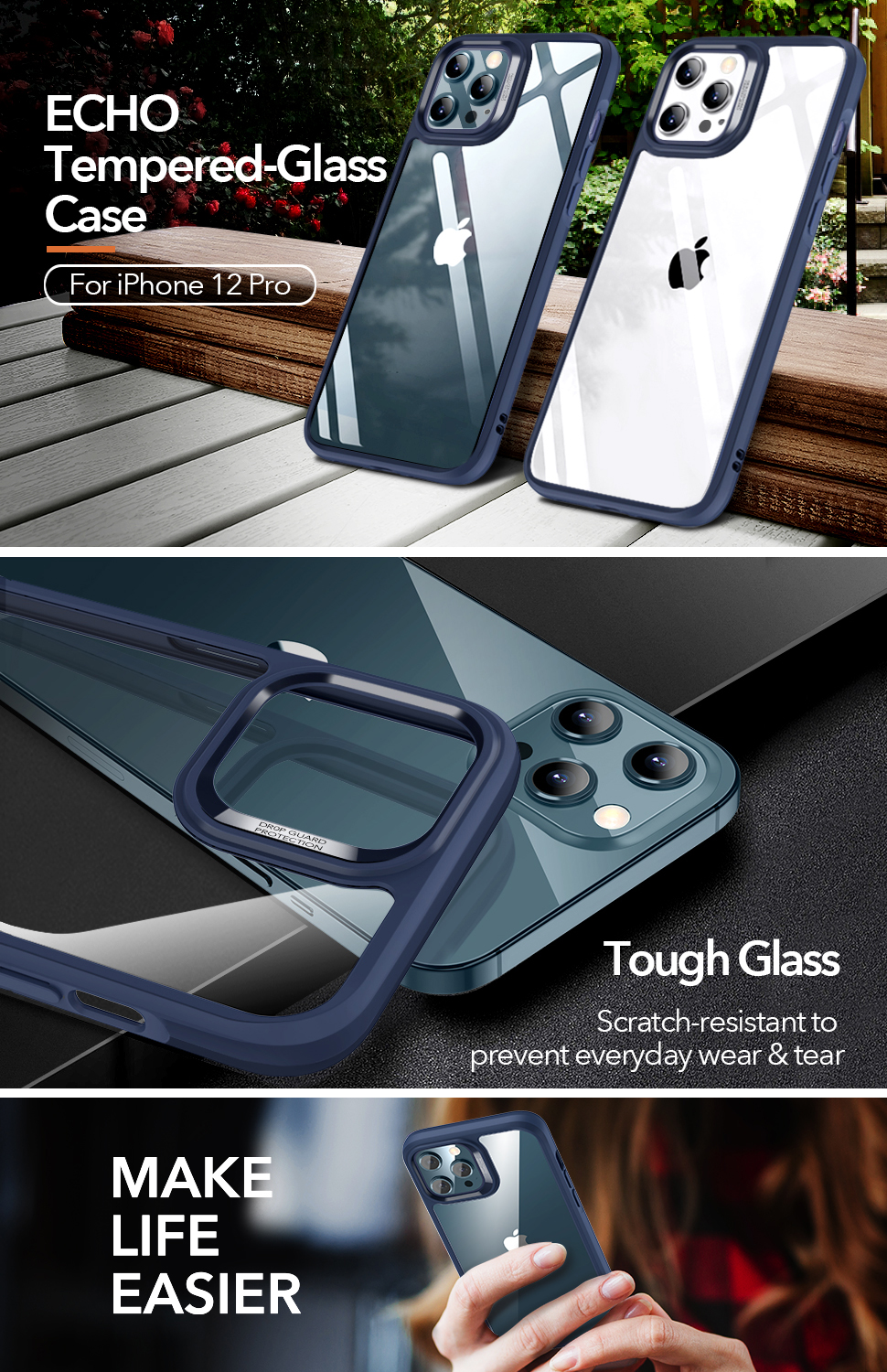 Gohub ShopESR Ice Shield - Blue case for iPhone 12/12 Pro