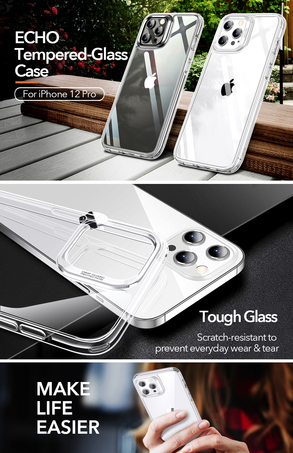Gohub Shop ESR Ice Shield - Clear case for iPhone 12/12 Pro