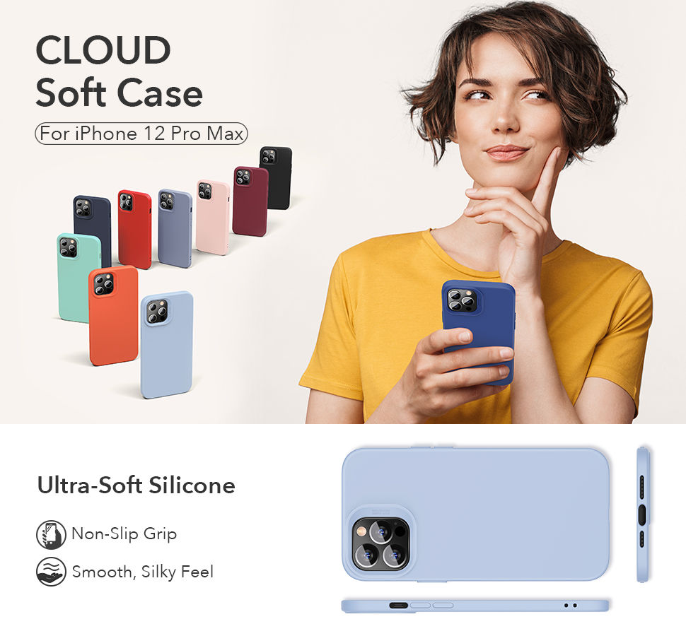 Gohub Shop - ESR Cloud - Purple Case for iPhone 12 Pro Max