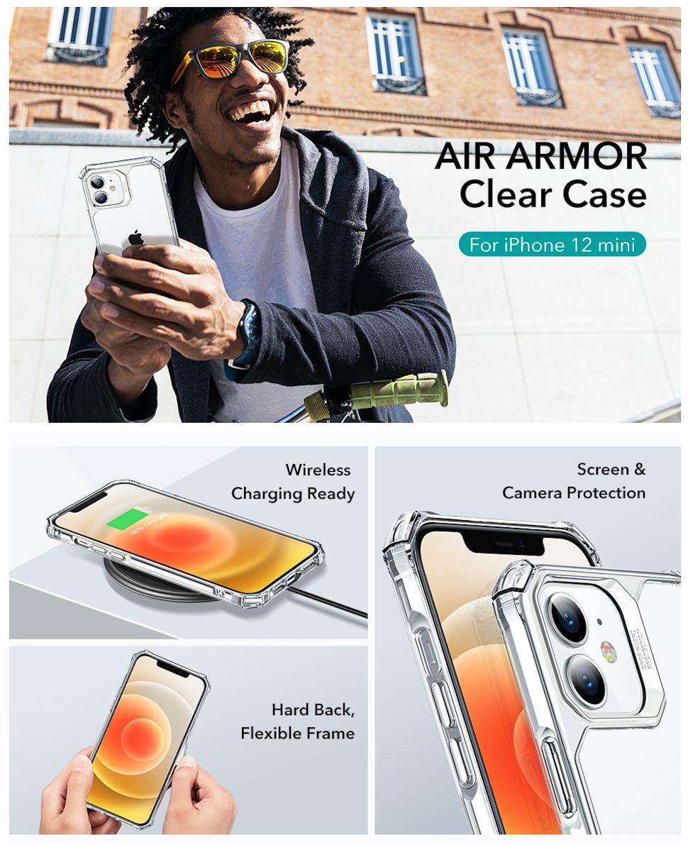 Gohub Shop - ESR Air Armor - Clear case for iPhone 12 mini