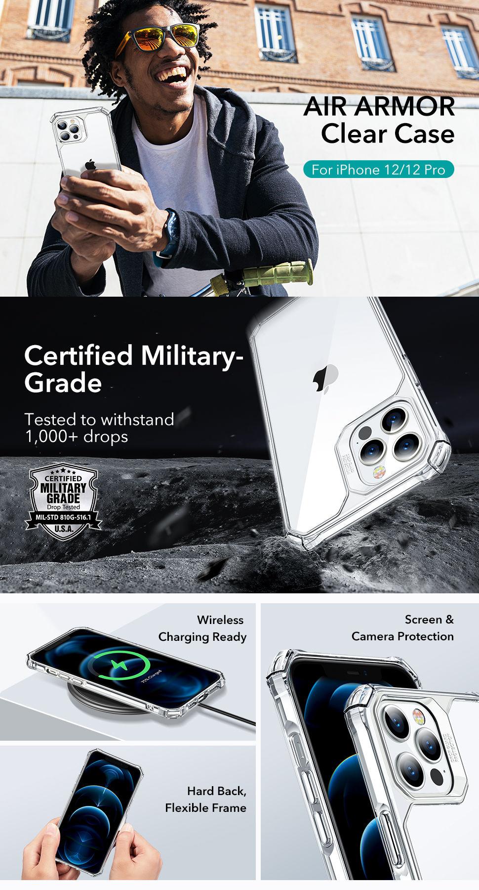 Gohub Shop - ESR Air Armor - Clear case for iPhone 12/12 Pro