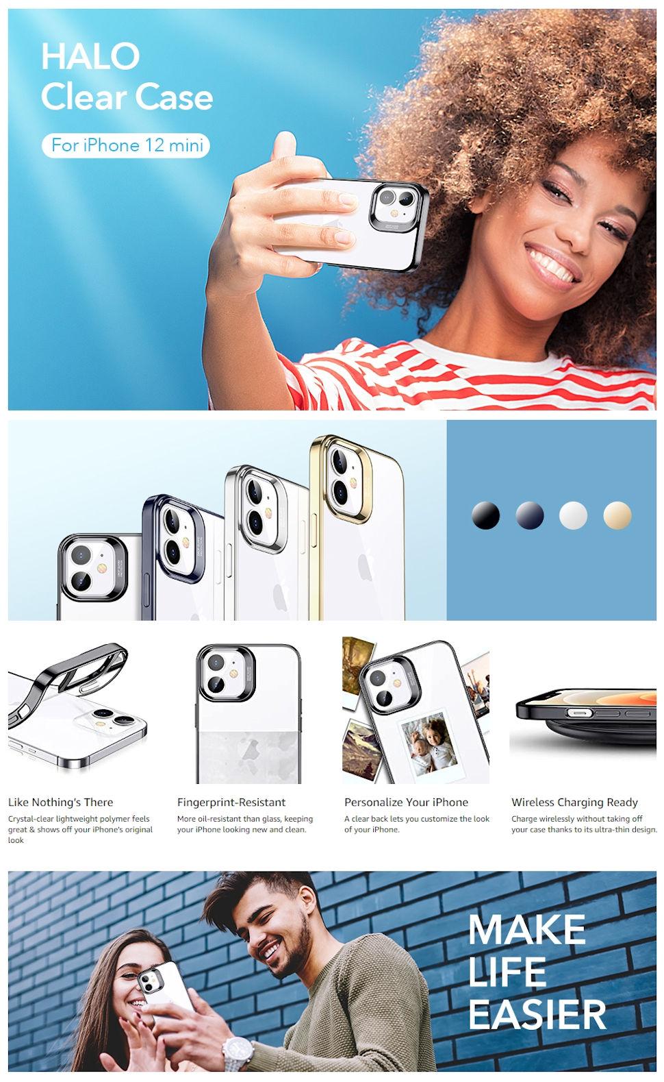 Gohub Shop - ESR Halo - Black case for iPhone 12 mini