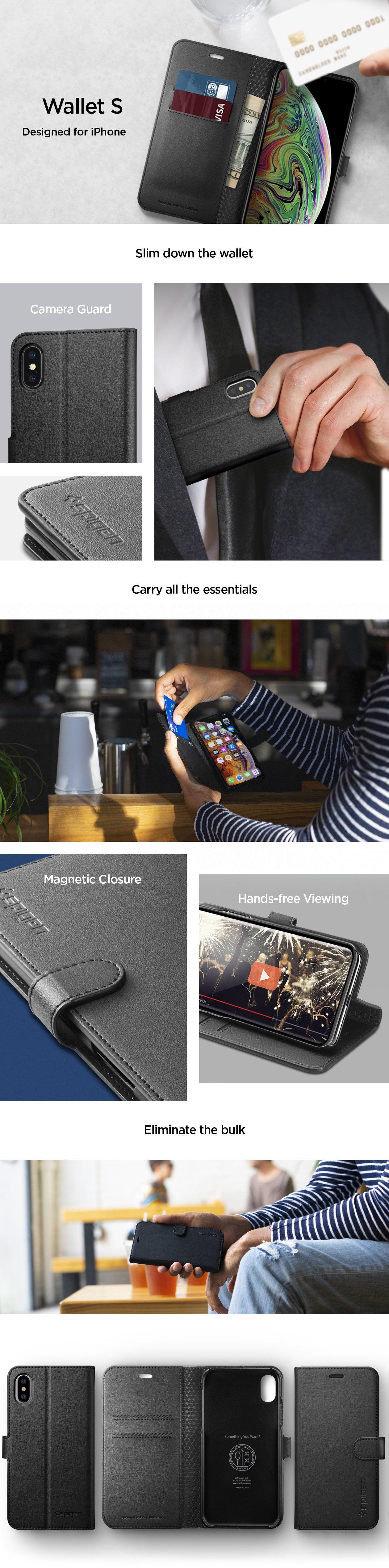 Carcasa Spigen iPhone XS / X Wallet S, Gohub