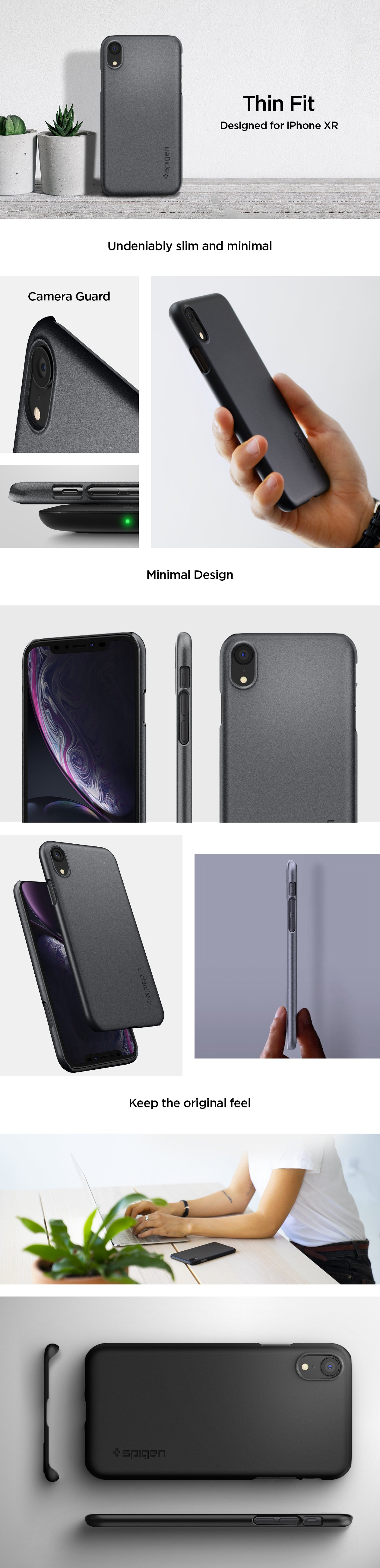 Carcasa Spigen iPhone XR Thin Fit, Gohub