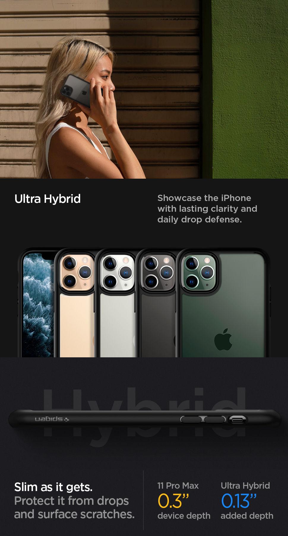Spigen iPhone 11 Pro Max Case Ultra Hybrid, Gohub Shop