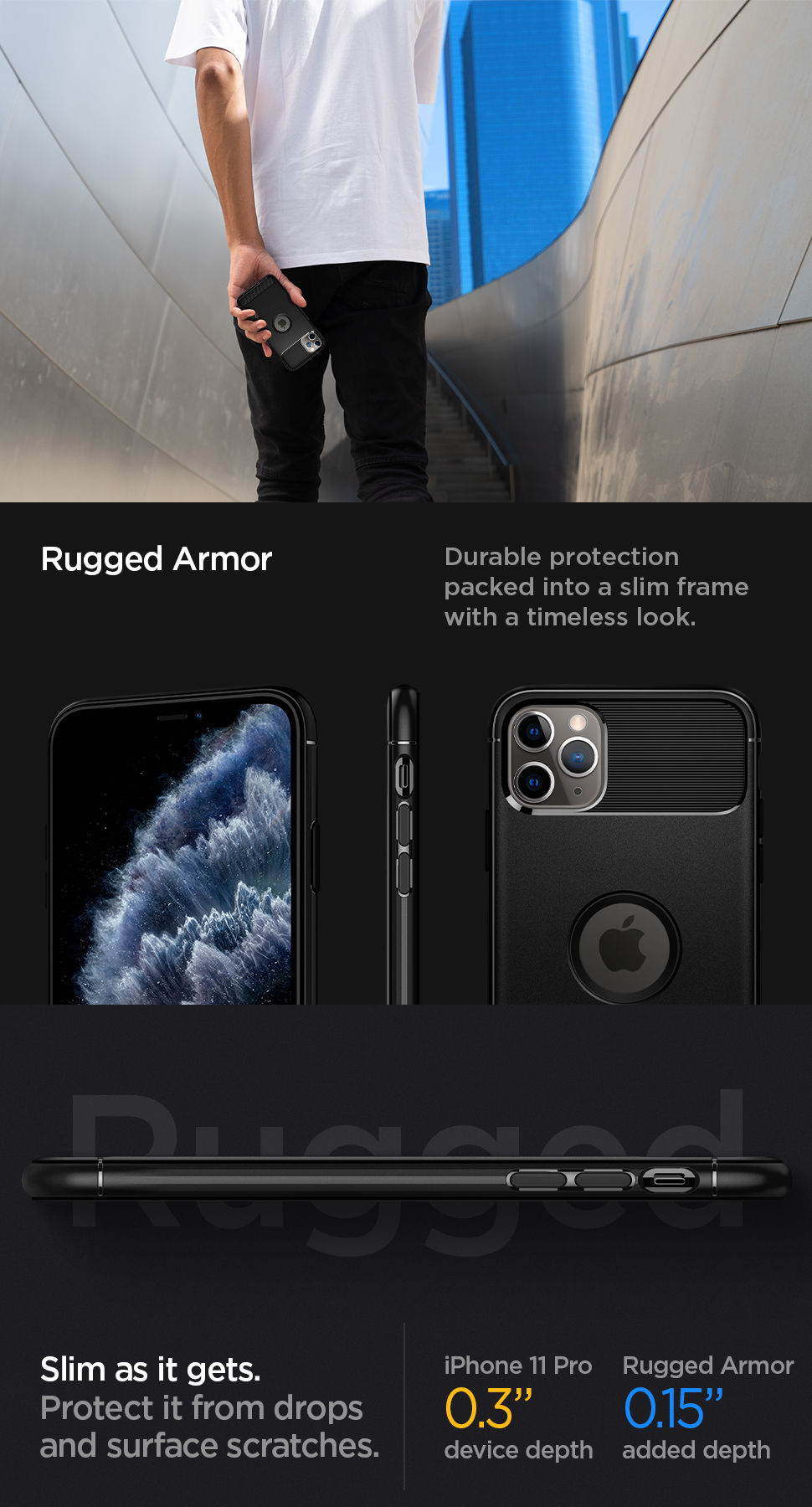 Spigen iPhone 11 Pro Case Rugged Armor, Gohub Shop