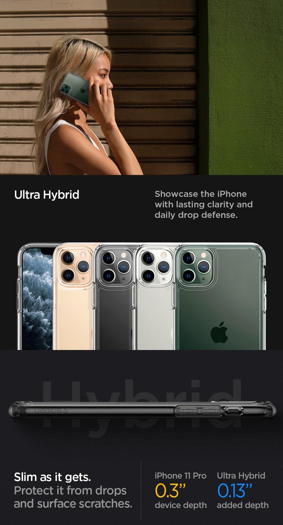Spigen iPhone 11 Pro Case Ultra Hybrid, Gohub Shop