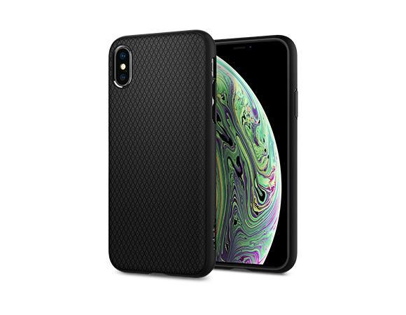 Carcasa Spigen iPhone XS Max Liquid Air, Matte Black Gohub