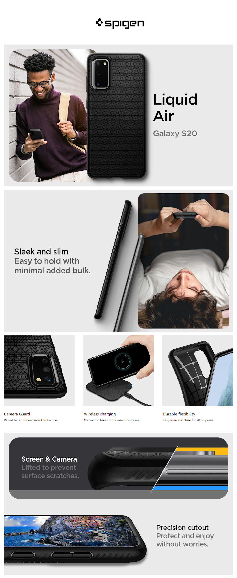 Gohub-Shop-Spigen Liquid Air, black - Galaxy S20