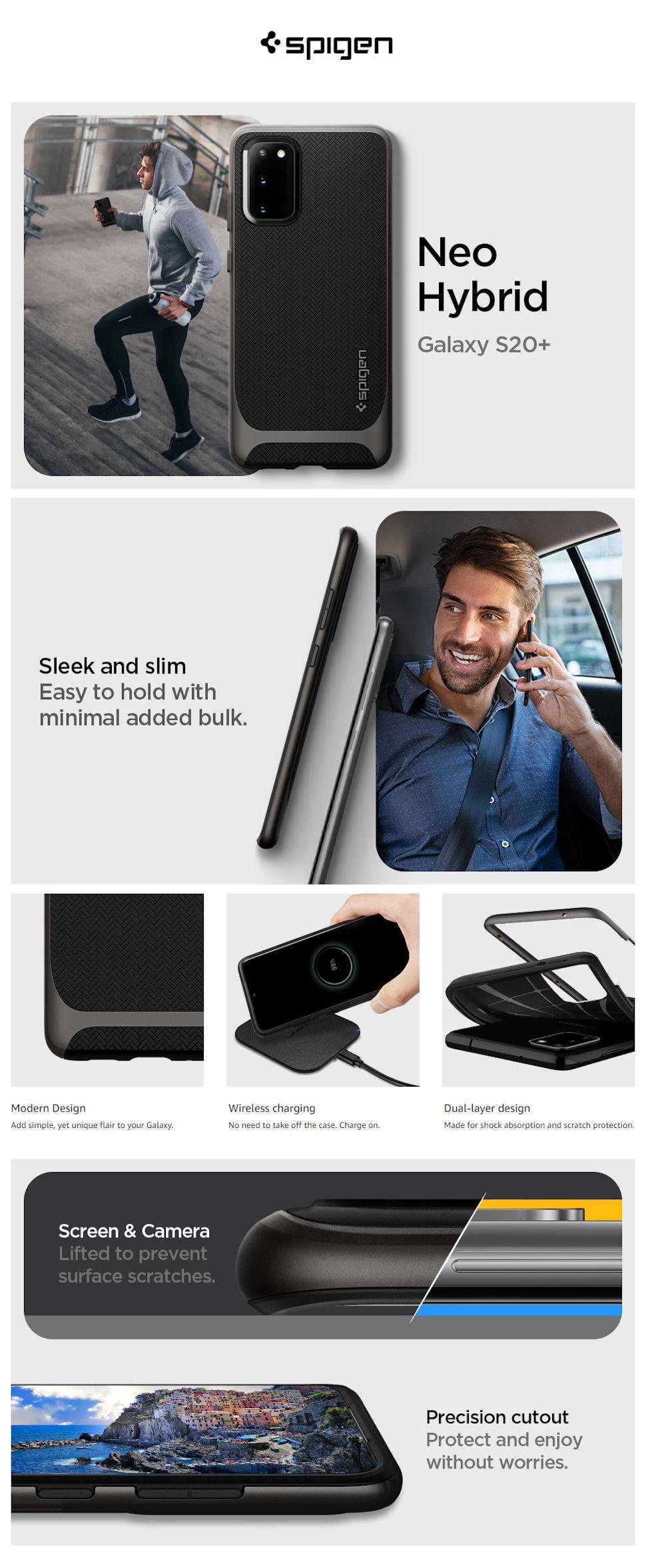 Gohub-Shop-Spigen Neo Hybrid, gunmetal - Galaxy S20+